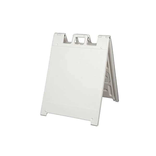 136W Plasticade Squarecade Double-Sided Sign Stand, White (2 Pack) 2