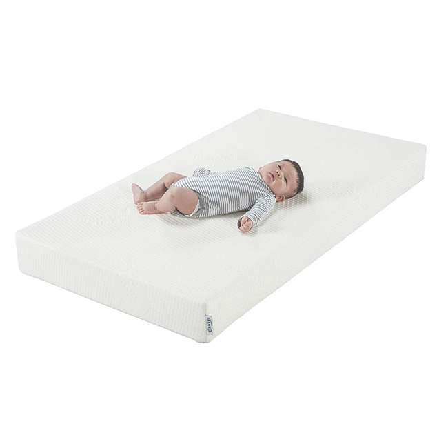 04550-04F + 06711-300 Graco Westbrook 4-in-1 Crib in Pebble Gray w/ Foam Mattress 6