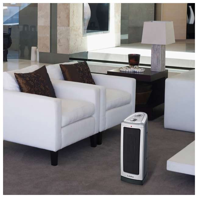 LKO-5307-TN Lasko 5307 Portable Electric 1500W Room Oscillating Ceramic Tower Space Heater 4