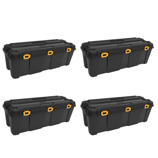 4 x FBA32274 Ezy Storage 32274 Bunker 130 Liter Heavy Duty Storage Container Tub, (4 Pack)