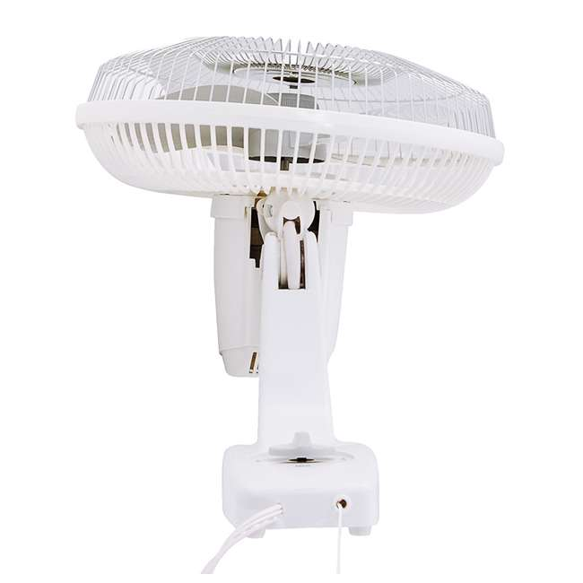 AK-9012-TX-U-B Air King 12-Inch 3-Speed 1/50 HP Commercial Oscillating Wall Fan, White (Used) 2
