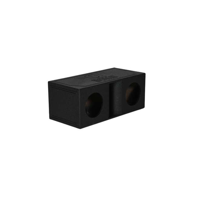 "QBOMB10HP-DUAL Q Power QBOMB10HP Dual 10"" Vented Subwoofer Box w/ Bedliner Spray 1"