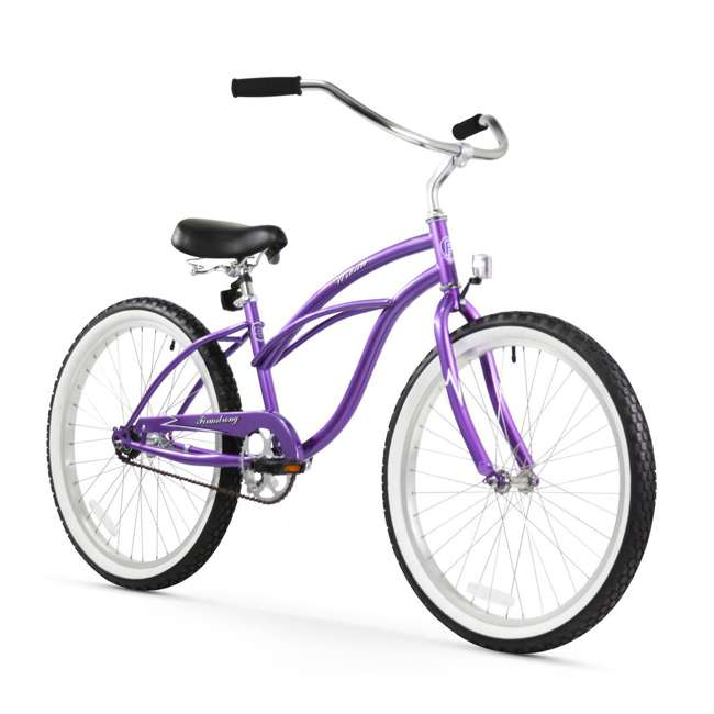 "15005 Firmstrong Urban Lady Women's 24"" Beach Cruiser Bike, Purple"