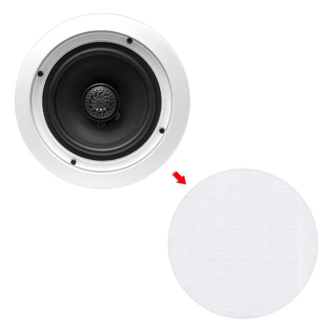 4 x PDIC60T Pyle Home 6.5-Inch 250W 2-Way In-Wall In-Ceiling Speakers, Pair (8 Pack) 3