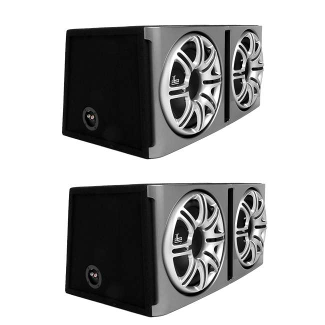 DB1222 Polk Audio DB1222 Dual 12-Inch Ported Subwoofers Enclosures Bass Pacakge Subs (Pair)