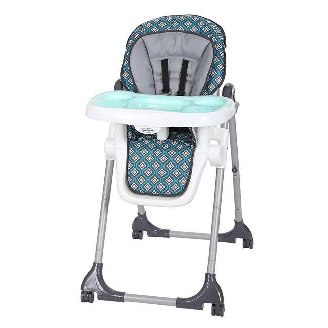 HC07914 Baby Trend HC07914 Deluxe Tranforming Recline 2 in 1 High Chair, Diamond Wave