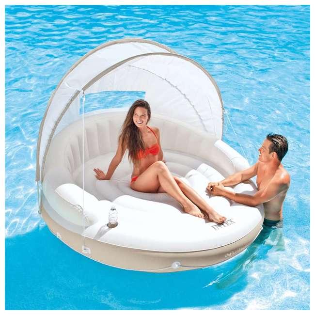 58292EP Intex Inflatable Canopy Island 78 x 59-Inch Lounge Raft 1