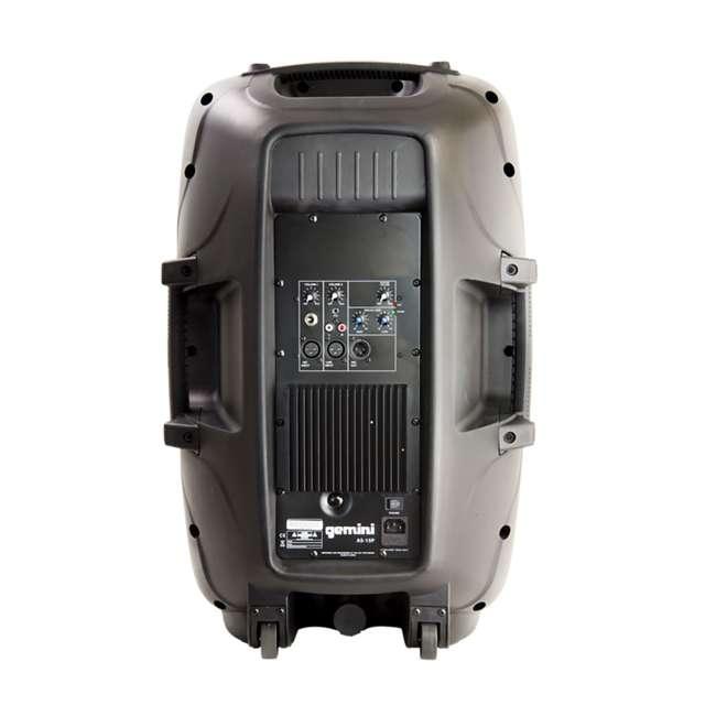 AS-15P Gemini Professional Portable 15 Inch Active Powered Loudspeaker Speaker (2 Pack) 3