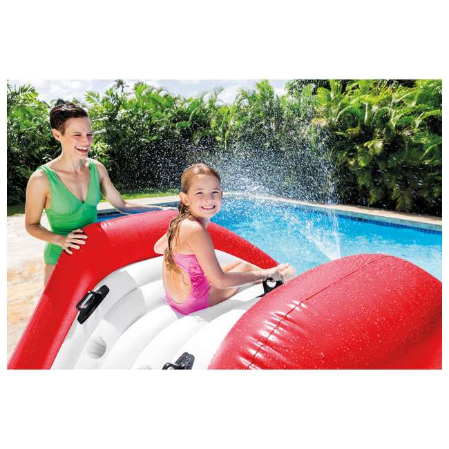 58849VM-U-B Intex Kool Splash Inflatable Water Slide Center w/ Sprayer, Red (Used) (2 Pack) 4