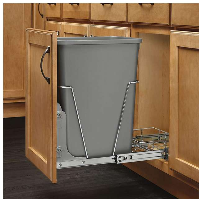 RV-35-17-52 Rev-A-Shelf RV-35-17-52 35 Quart Plastic Replacement Waste Container, Metal Gray 2