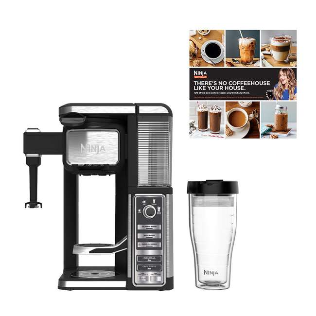 CF112REF_EGB-RB + CBCF090 Ninja Coffee Bar w/ 100-Recipe Book (Certified Refurbished)