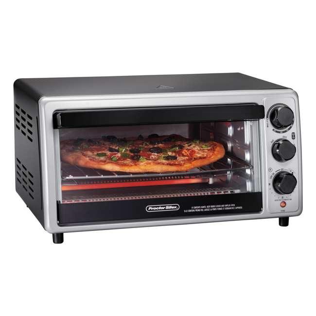 31124 Hamilton Beach Proctor Silex 6 Slice Capacity Countertop Toaster Oven, Silver 1