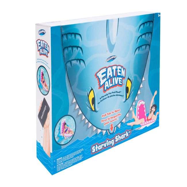 6044161-SW SwimWays Eaten Alive Inflatable Pool Float, Shark 3