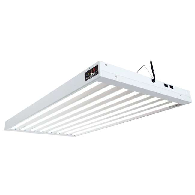 FLT48 Agrobrite 4FT 8 Tube Fixture w/ Lights | FLT48