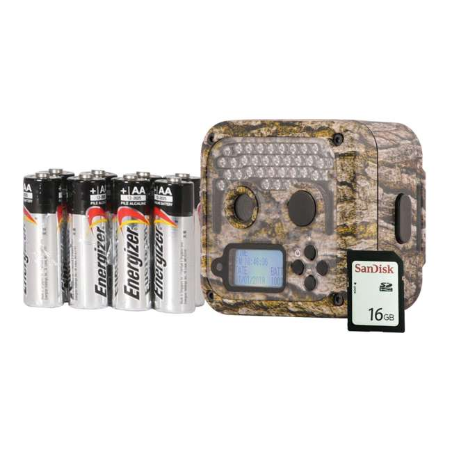 WGICM0653 Wildgame Innovations Shadow Infrared Game Trail Camera with SD Card, Batteries