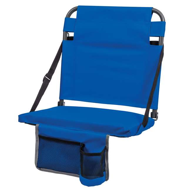 1-1-58814-DS EastPoint Sports Adjustable Bleacher Backrest Seat, Royal Blue