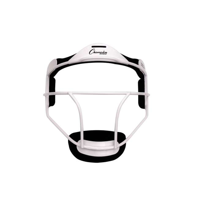 FMYWH Champion Sports Youth Softball Fielder's Metal Safety Face Mask/Guard, White