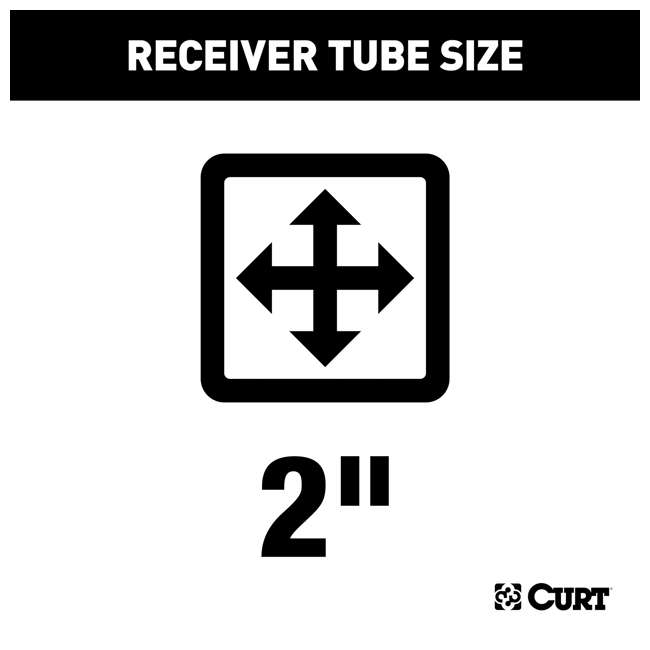 13264 Curt 13264 Class 3 2 Inch Receiver Trailer Hitch for 2016 to 2020 Toyota Tacoma 1