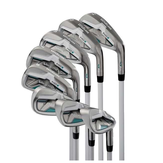WGGC49900 Wilson Velocity HDX Womens Right Hand Stiff Flex Iron Golf Club Set
