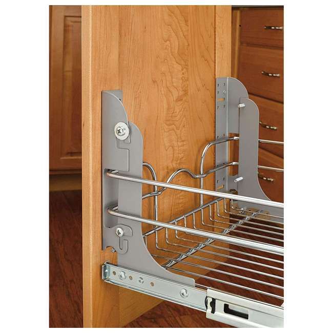 3 x 5WB1-0918-CR-U-A Rev A Shelf 9 x 18 Inch Cabinet Pull Out Basket, Chrome  (Open Box) (3 Pack) 3