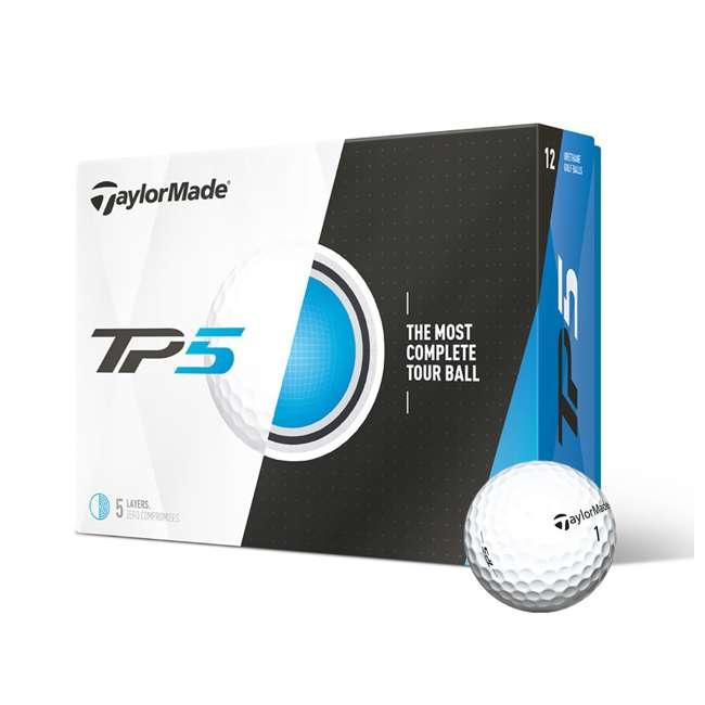 B1342401-TP5 TaylorMade TP5 Dual-Spin 5-Layer Distance Golf Balls, 1 Dozen