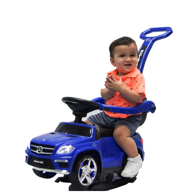 4 in 1 Mercedes Push Car White Best Ride On Cars Baby 4 in 1 Mercedes Push Vehicle, Stroller, & Rocker, Blue 5