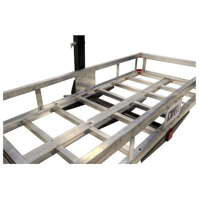HCC502A Detail K2 HCC502A 500 Pound Trailer Hitch Mounted Aluminum Cargo Carrier Rack 6