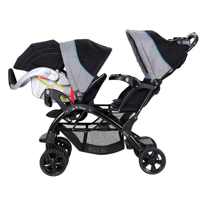 Baby Trend Double Sit N Stand Stroller Millennium Blue