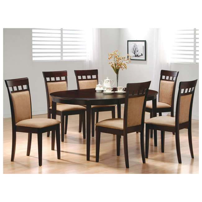 3 x 100773ii-PAIR Coaster Home Furnishings Gabriel Wheat Back Side Dining Room Chairs (6 Pack) 6