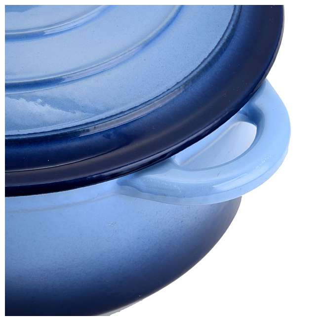 HAR112 Hamilton Beach 5.5-Quart Enameled Dutch Oven Pot, Blue (2 Pack) 4