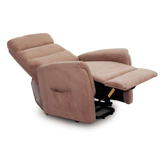 L6115F51-Mocha Lifesmart Ultra Comfort Fitness Lift Chair with Heat, Massage and Remote 2