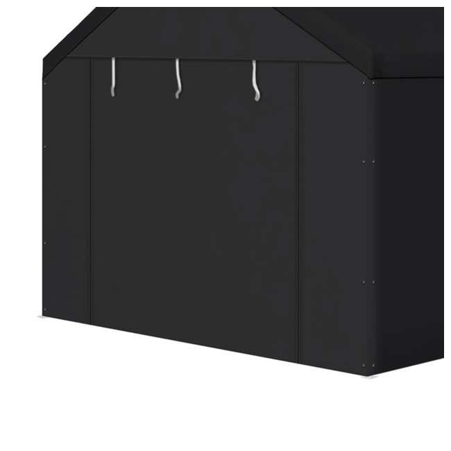 CVAN12000211050 Caravan Canopy Domain Carport Sidewalls, Black (Sidewalls Only) 1