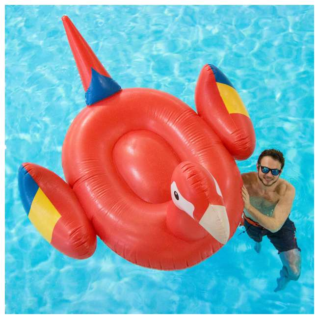 90629 Swimline Giant Inflatable Parrot Float 5