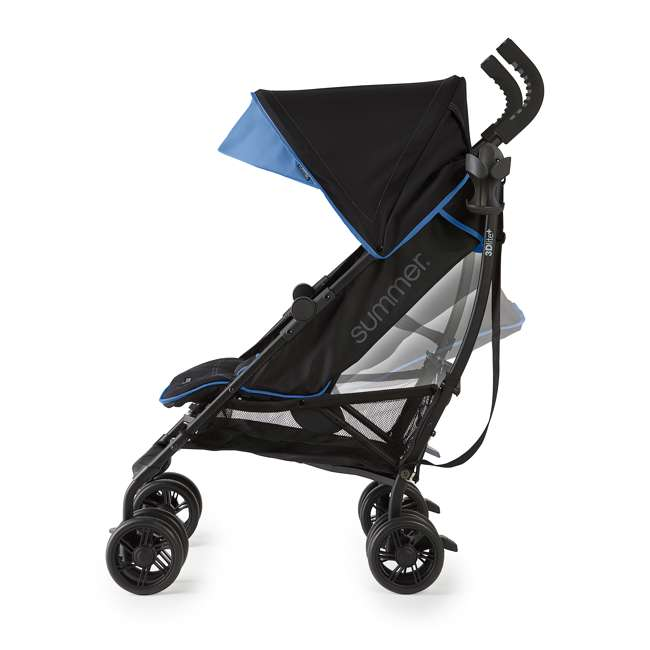 32773 Summer Infant 3DlitePlus Convenience One-Hand Adjustable Stroller Blue/Black 6