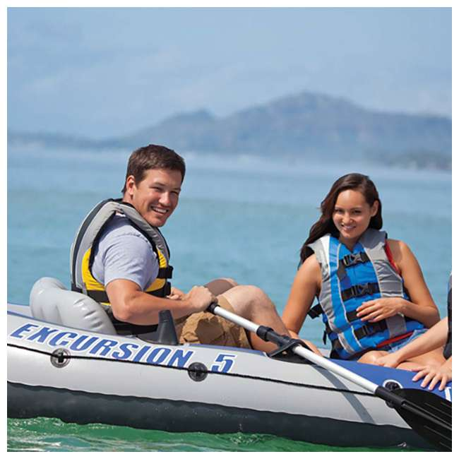 68325EP Intex Excursion 5 Inflatable Boat Set 2