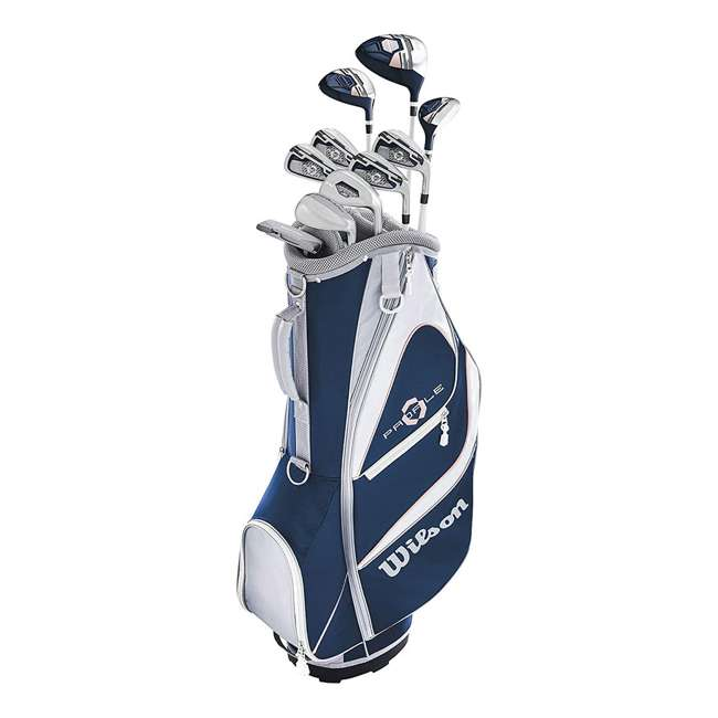 WGGC59001 Wilson Profile XD Women's Right Handed Golf Club Set w/ Cart Bag
