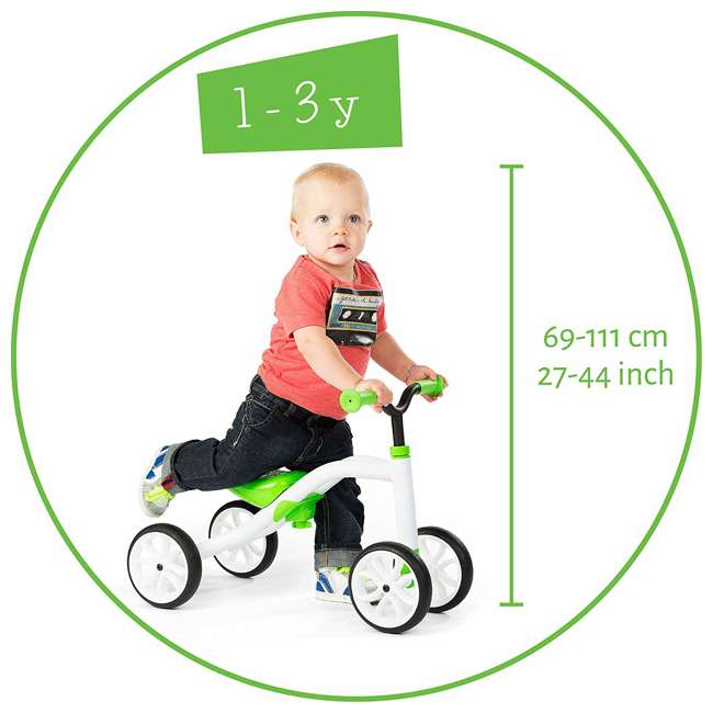 CPQD01LIM Chillafish CPQD01LIM Grow With Me Lightweight Steel Quad Ride On 4 Wheeler, Lime 2