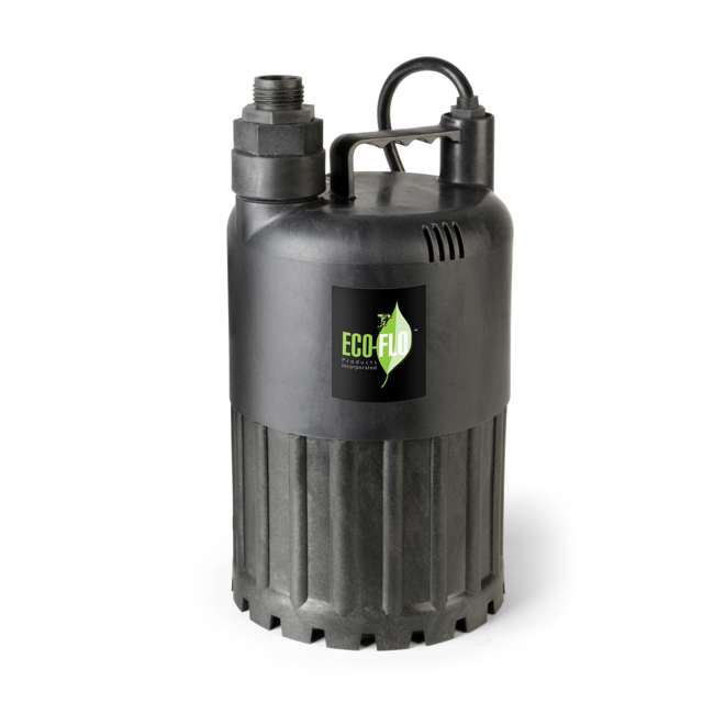 SUP80 Eco Flo SUP80 1/2 HP 3180 GPH Manual Submersible Thermoplastic Utility Pump