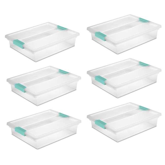 6 x 19638606-U-A 6) Sterilite 19638606 Large File Clip Box Storage Tote Containers (Open Box)