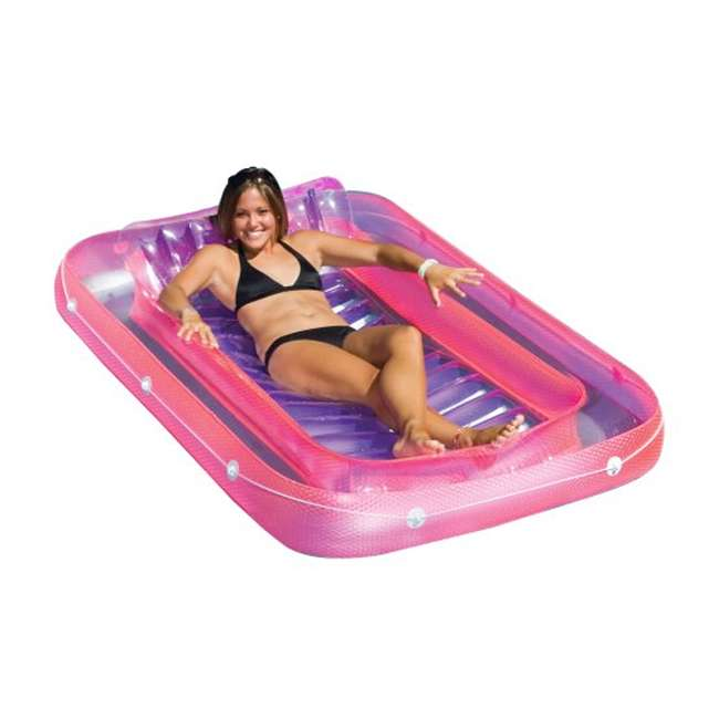 "90465 + 9052 Swimline Swimming Pool U-Seat Chair Float (2 Pack) & 71"" Suntan Tub Float 2"