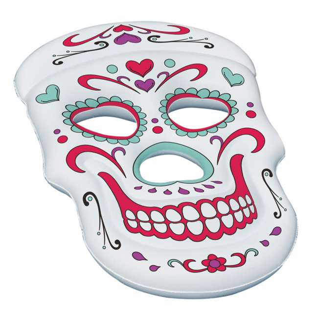 90555-U-A Swimline Giant Inflatable 62-Inch Sugar Skull Pool Island Raft (Open Box)