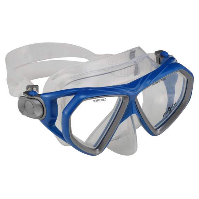 258210 U.S. Divers 258210 Cardiff LX Silicone Adult Size Snorkel Mask, Electric Blue