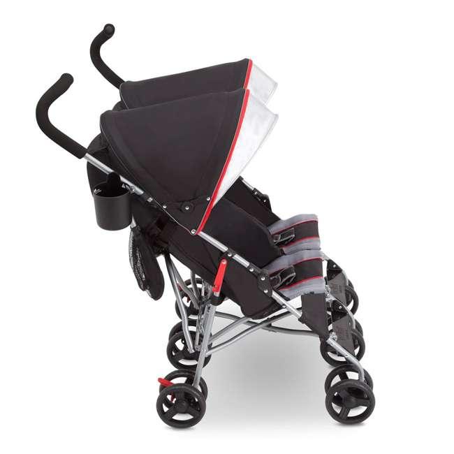 11709-2246 Delta Children LX Plus Side x Side Lightweight Double Stroller, Red Triangular 2