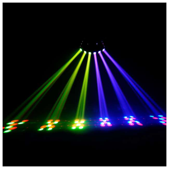 DERBY-X + DJBANK Chauvet DJ Derby X DMX-512 LED Strobe Lighting | Bank RGBA LED Wash Effect Light 8