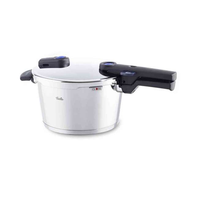 FISS-60070008079 Fissler Vitaquick 8.5 Quart Stainless Steel Stove Top Steam Pressure Cooker Pot