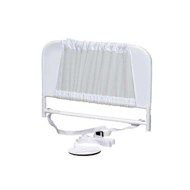 BR103 KidCo Convertible Mesh & Steel Telescopic Crib Bed Rail Guard, White (Open Box)