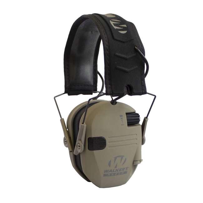 GWP-RSEM-MFDE + GWP-REMSC Walker's Razor Electronic Shooting Ear Muffs, Dark Earth & Storage Case, Black 1