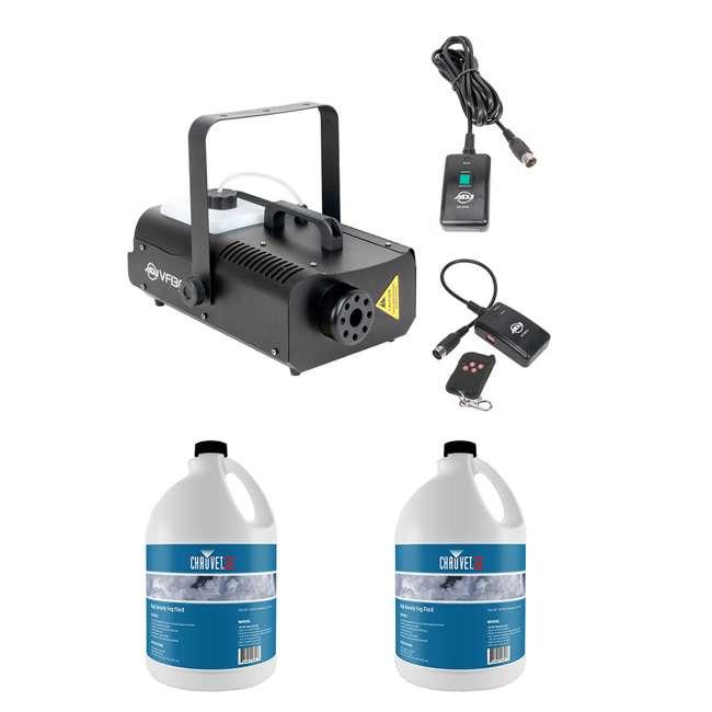 VF1300 + 2 x HDF American DJ 1300 Watt 2.3 L Tank Mobile Fog Machine Fog Fluid (2 Gallons)