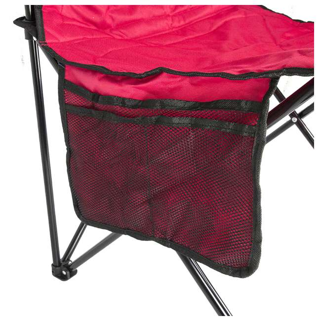 2000032009 + 2 x 2000032008 Coleman Folding Chair w/ Cooler & Cup Holder, Red & Blue (4 Pack) 7