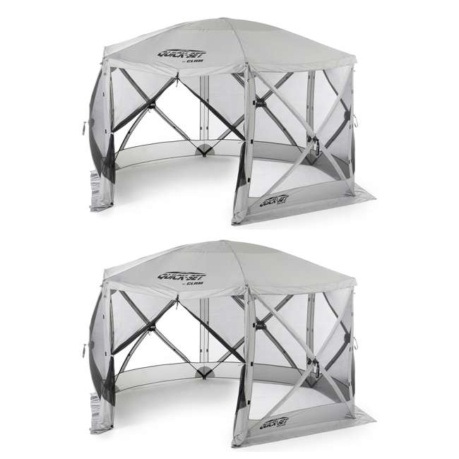 CLAM-ES-114246 Clam Quick-Set Escape Portable Outdoor Gazebo Canopy (2 Pack)